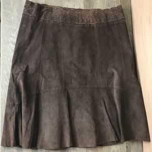 💯 cabi leather suede skirt